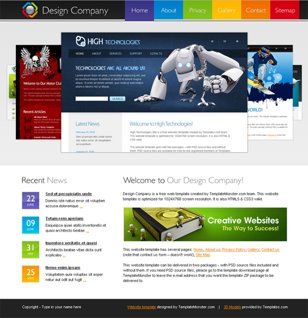 free website templates html5
