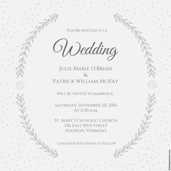 free wedding invitation templates for phrase