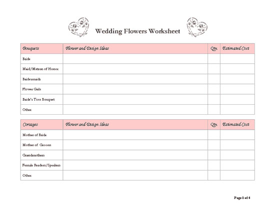 Influential image in free printable wedding planner templates