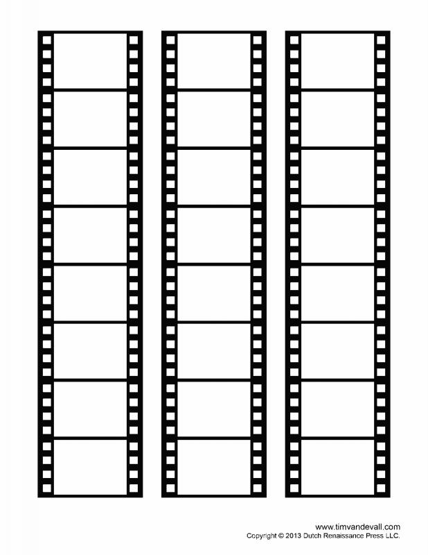 Free yearbook templates for Printable film strip template