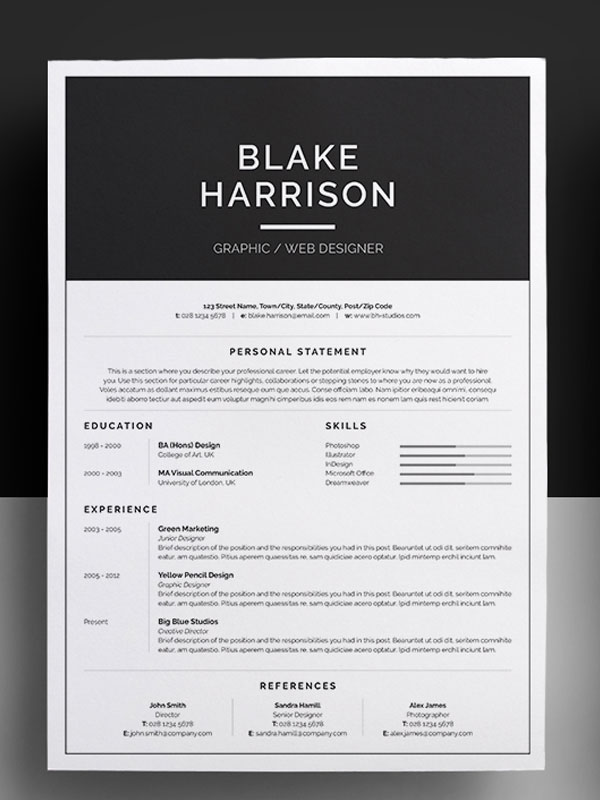 impressive resume templates amazing resume template 2016 12jpg 600 800 pixels faire sa best 25 free creative resume templates ideas on pinterest - Nice Resume Template