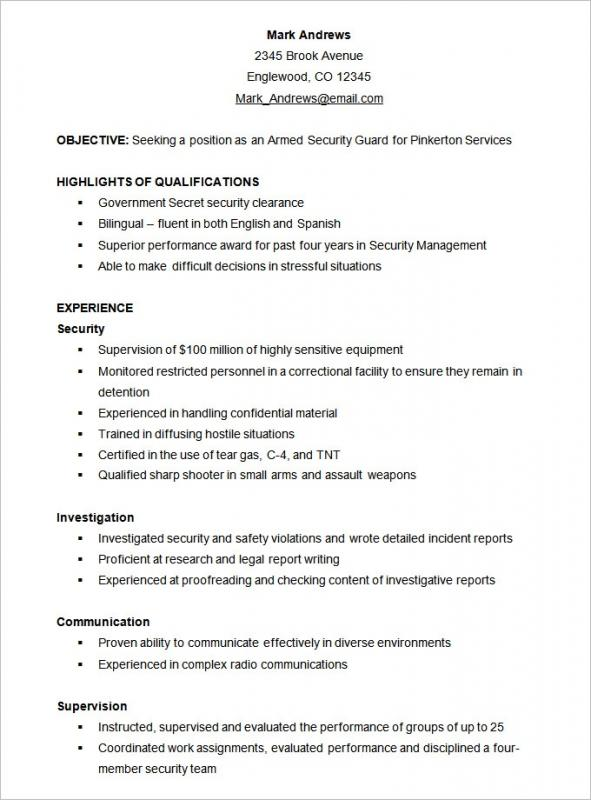 Sample Functional Resume Format on examples customer service, formats free, project management, what is, entry level,