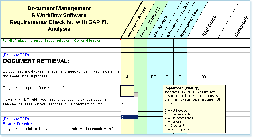 Gap analysis template excel for Software user requirements template