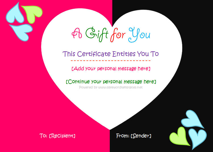 Gift certificate template shatterlionfo reward certificates template yadclub Image collections