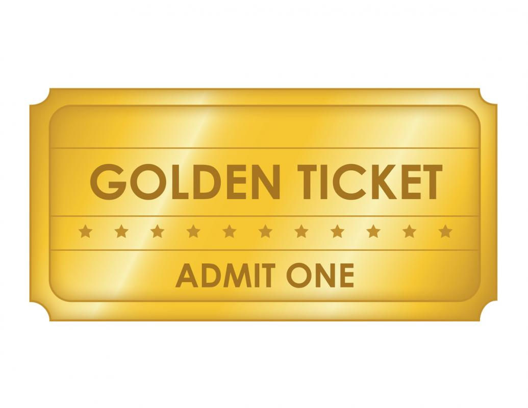 golden ticket template