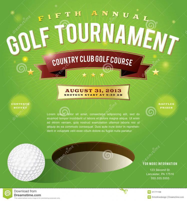 Golf Tournament Flyer Template  ShatterlionInfo