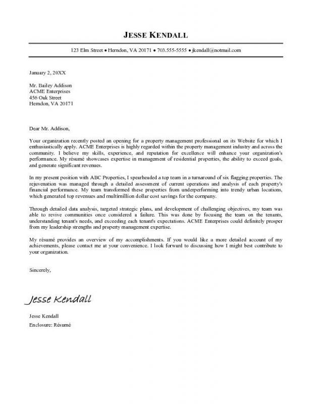google cover letter template