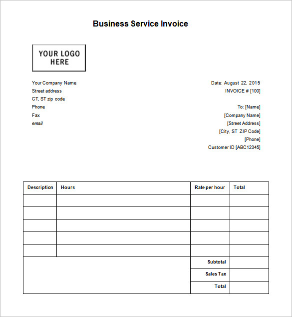 Google Docs Receipt Template Shatterlioninfo - Google invoice maker for service business