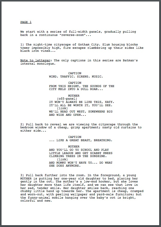 Google Docs Screenplay Template  ShatterlionInfo
