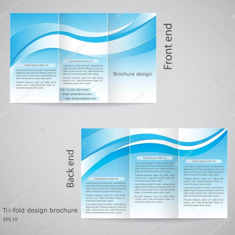 google docs tri fold brochure template