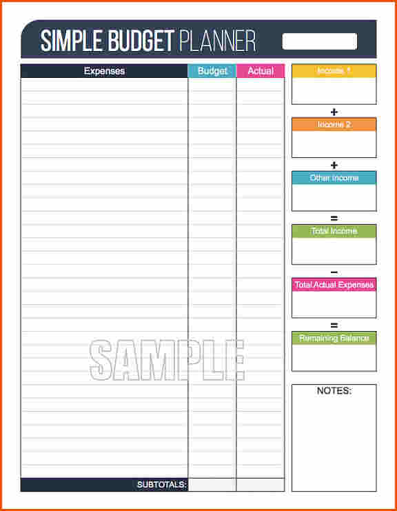 Google Sheets Budget Template | shatterlion info