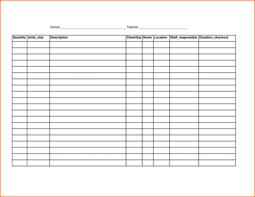 google sheets inventory template