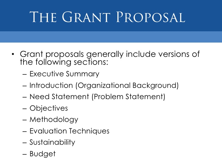 How to write a program grant proposal