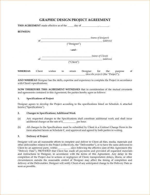 Graphic Design Contract Template Shatterlion Info