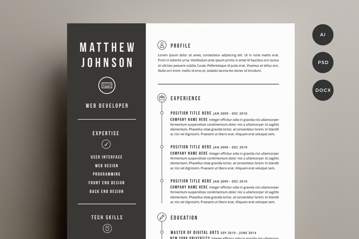 Graphic Resume Templates | shatterlion.info