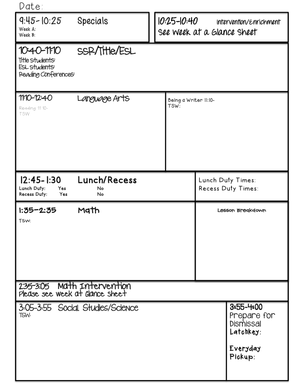 Guided Reading Lesson Plan Template Fountas And Pinnell