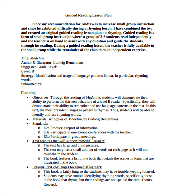 Guided Reading Lesson Plan Template Shatterlioninfo - Free guided reading lesson plan template