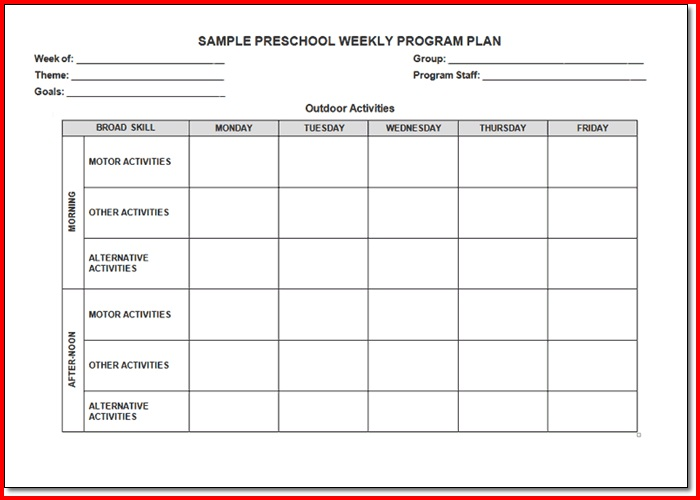 High School Lesson Plan Template  ShatterlionInfo
