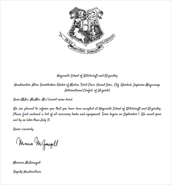 Hogwarts acceptance letter template shatterlionfo hogwarts acceptance letter template spiritdancerdesigns Gallery