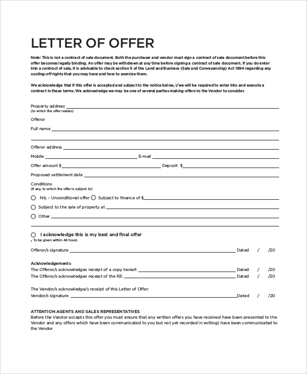home buyer letter to seller template