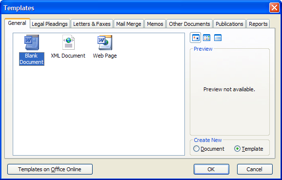 how to create a template in word