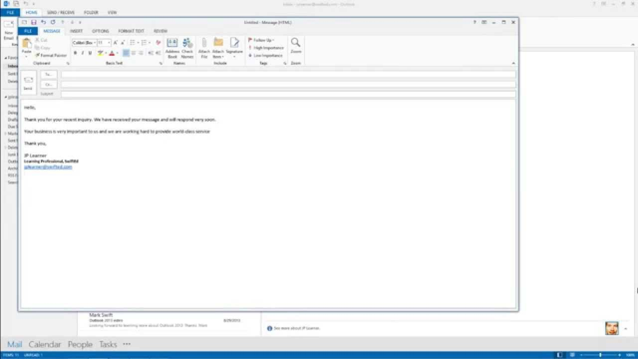 how to create an email template in outlook