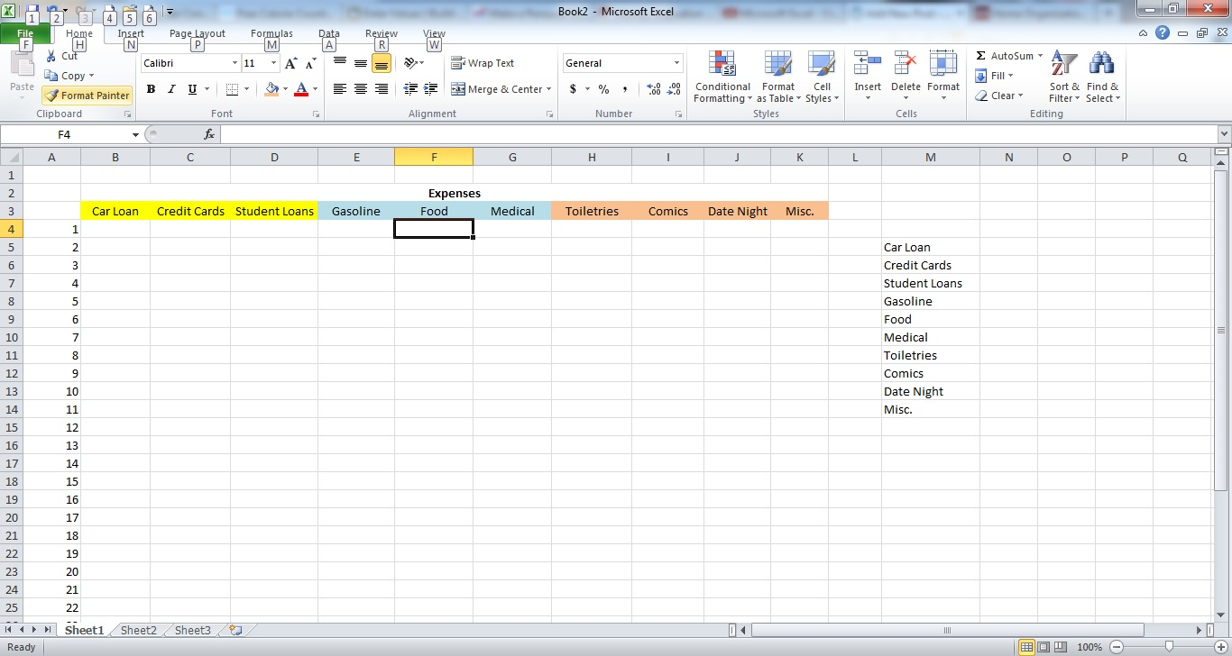 how to make a template in excel
