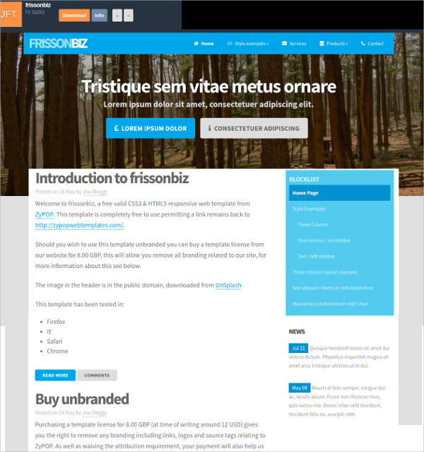 html5 responsive templates
