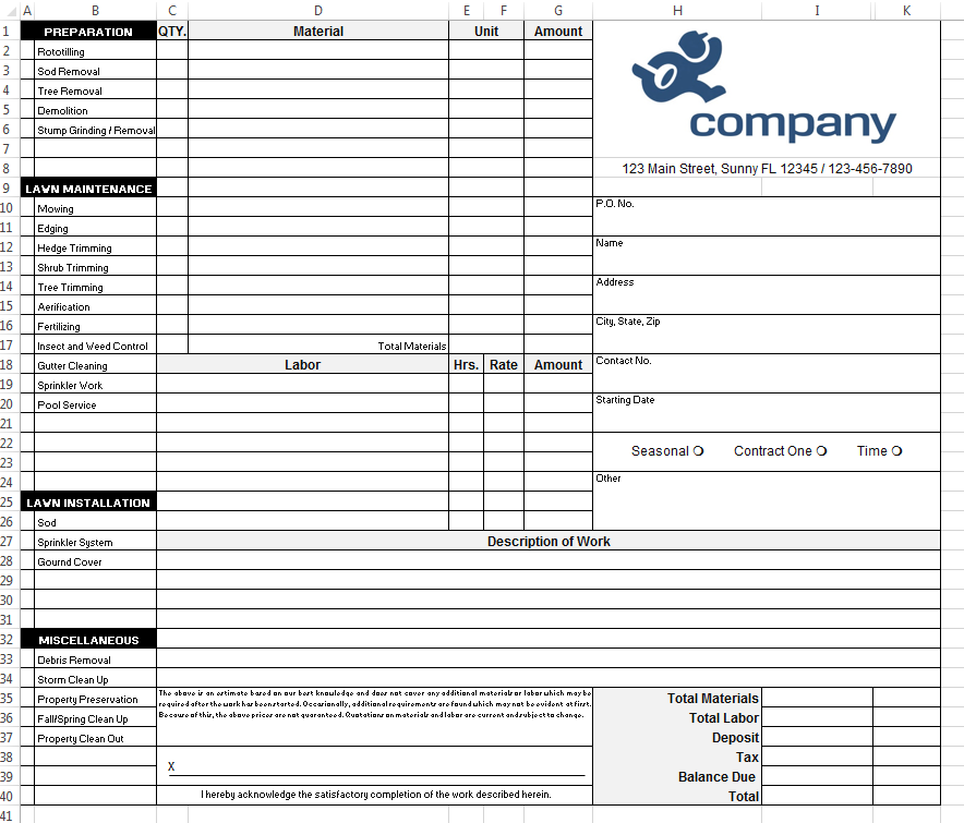 Hvac Invoices Templates Pasoevolistco - Hvac invoices templates