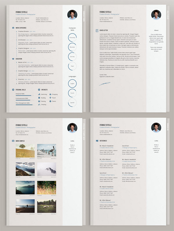 Illustrator Resume Templates  ShatterlionInfo