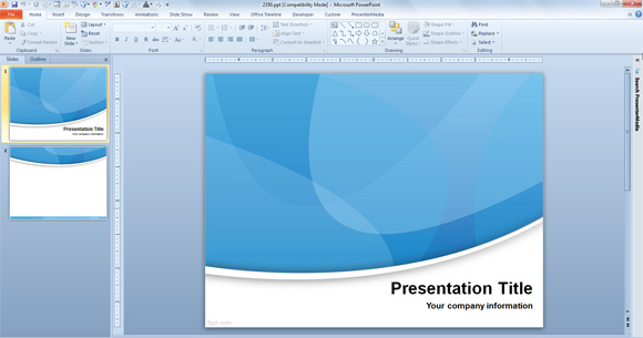 import powerpoint template