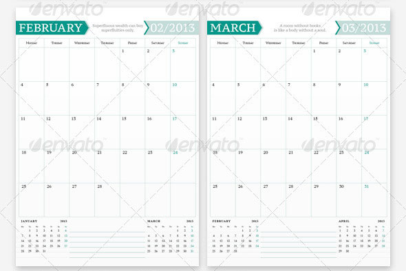 indesign calendar template. Black Bedroom Furniture Sets. Home Design Ideas