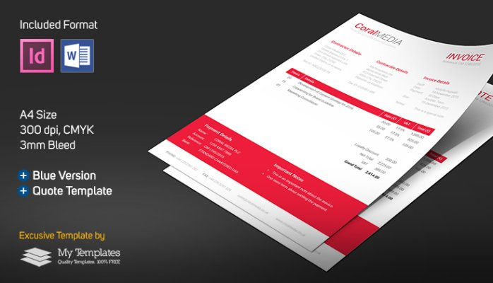 Indesign Invoice Template Shatterlion Info