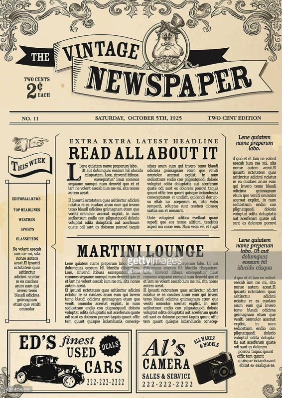Indesign Newspaper Template Shatterlionfo