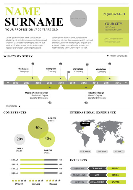 infographic resume template free