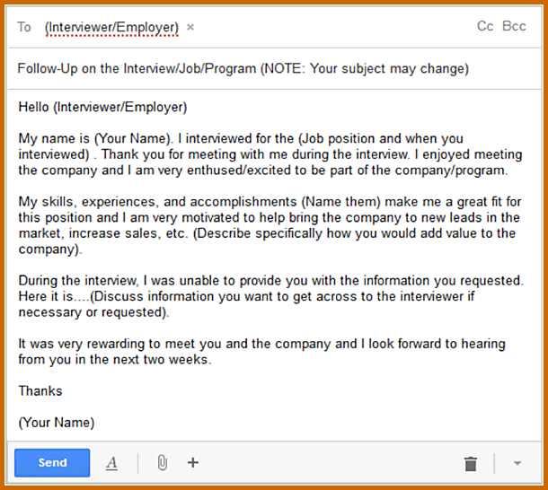 Interview follow up email template shatterlionfo interview follow up email template maxwellsz