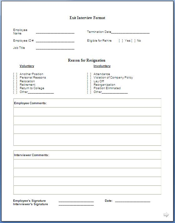 interview questions template