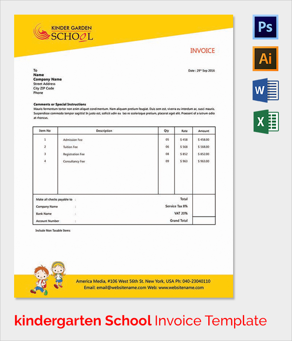 invoice email template