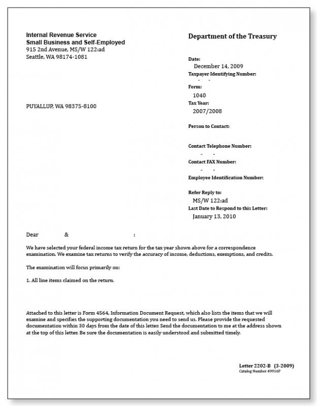 Irs letter template for Letter to the irs template