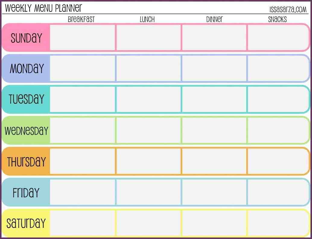 Itinerary template excel for Weekly itinerary template excel