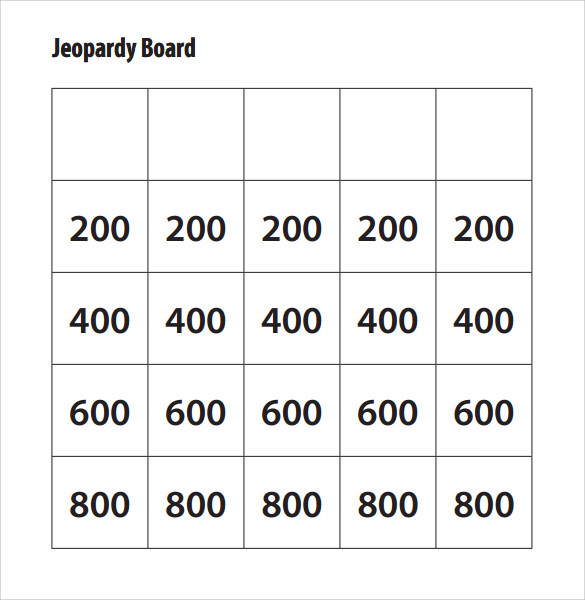 Examples Of Jeopardy Categories: Jeopardy Template Ppt