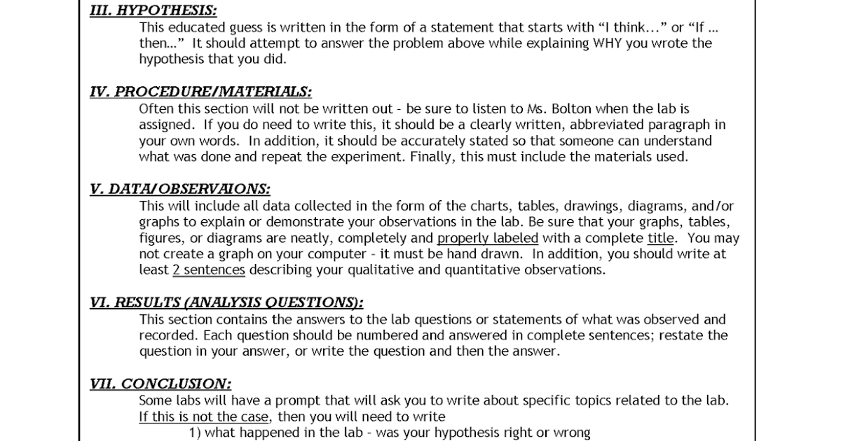 lab report template