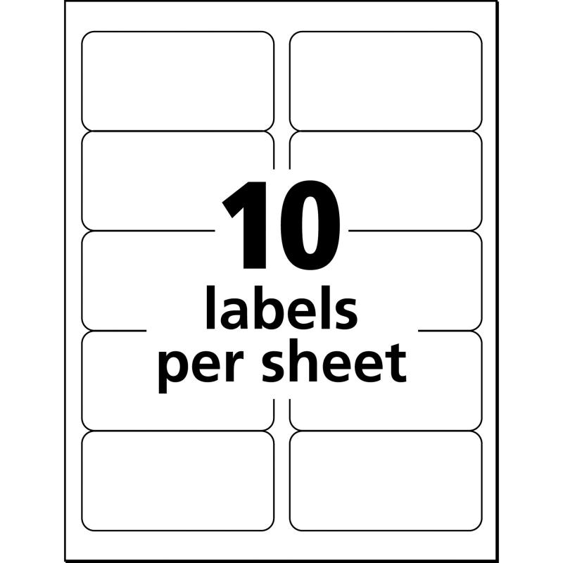 label printing template
