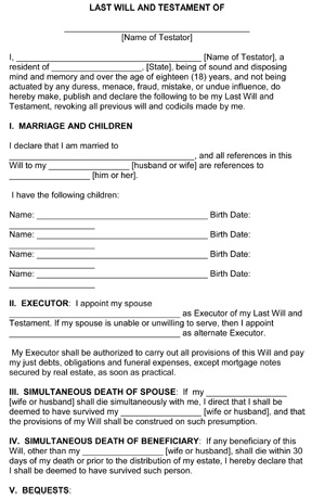 Last Will And Testament Template Microsoft Word Shatterlioninfo - Free will template for microsoft word