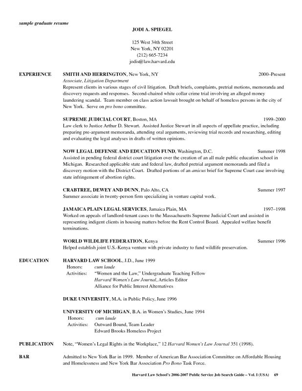 law school resume template