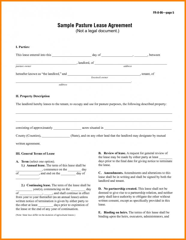 Lease Agreement Template Shatterlionfo