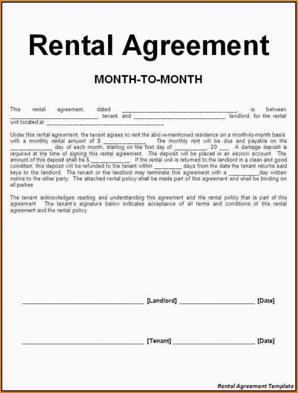 lease agreement template word