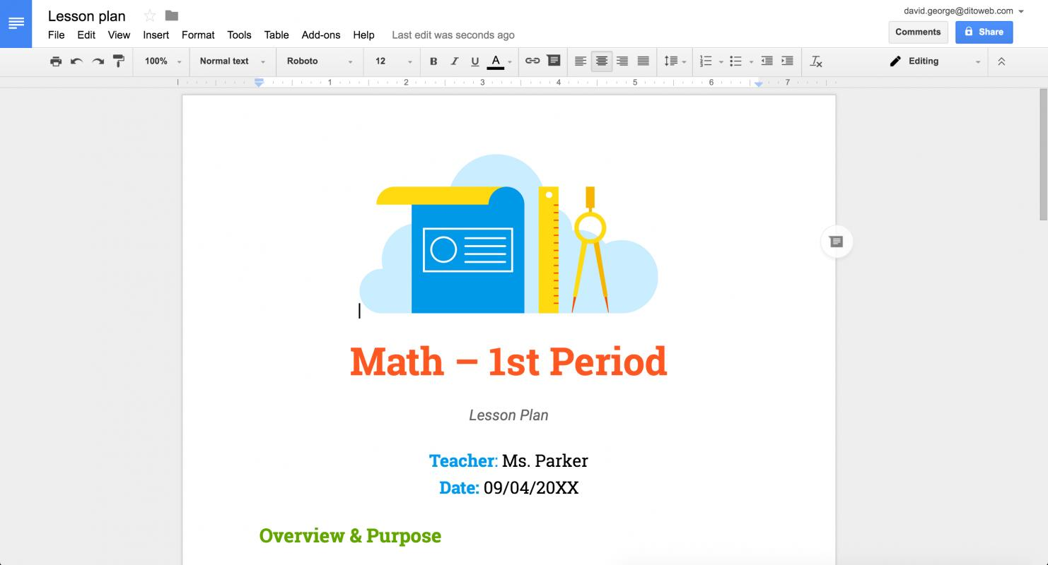 Lesson Plan Template Google Docs Shatterlioninfo - Google docs lesson plan template