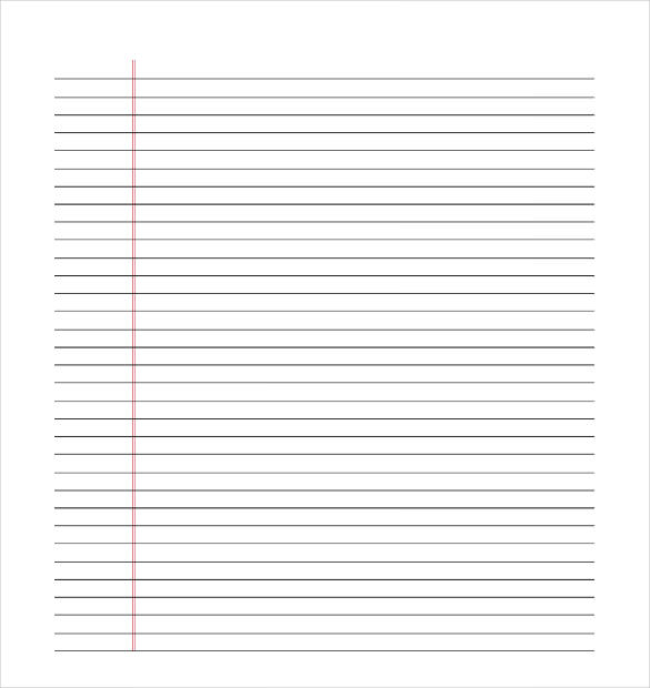 Lined Paper Template Pdf  Printable Lines Paper