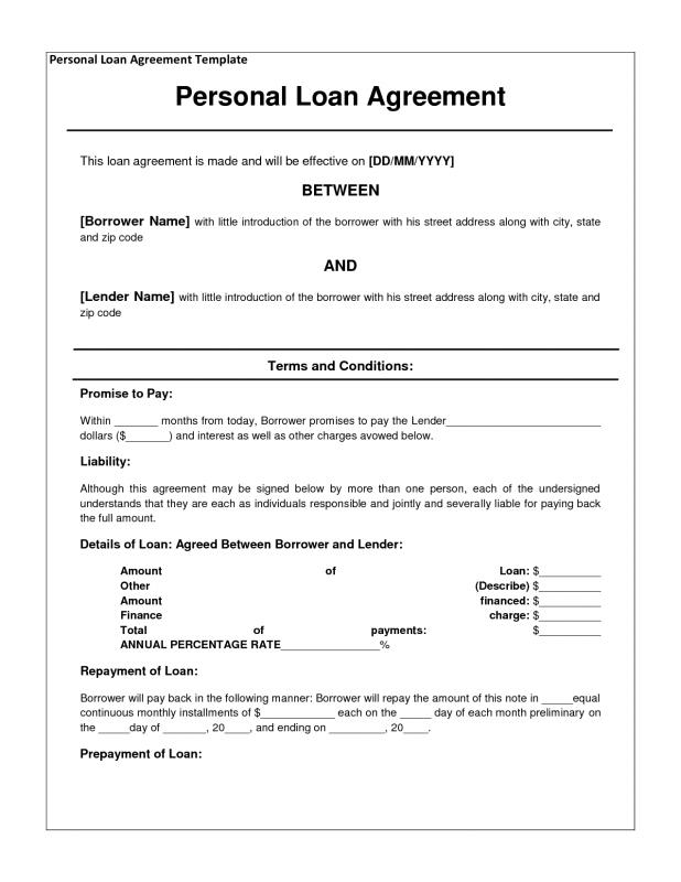 loan contract template free